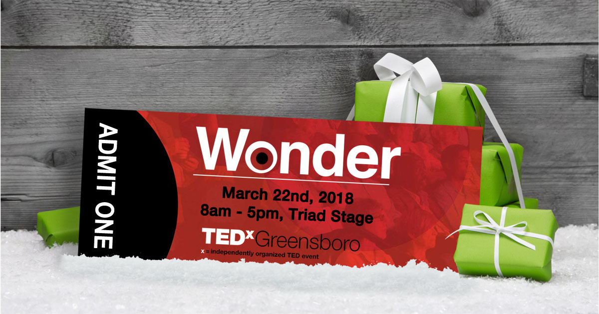 Give the gift of TEDxGreensboro for the holidays