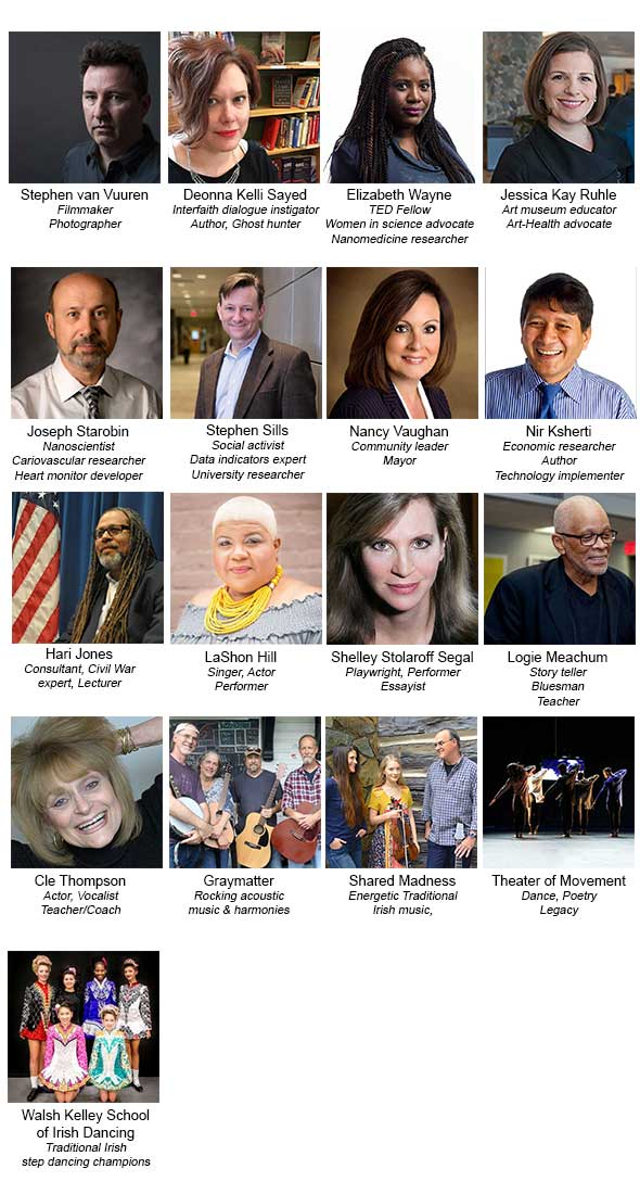 TEDxGreensboro announces the 2018 speakers and entertainers!