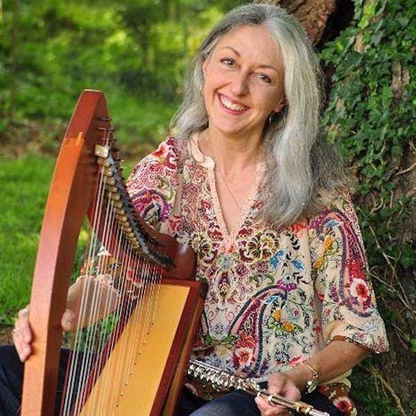 Susie Firth-Cooper, Celtic Harpist, TEDxGreensboro 2019 Reception Entertainer